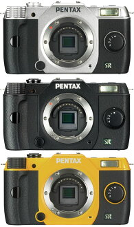 PENTAX Q7 body color (silver/black/yellow) [maximum sensor size in the Q-Series digital SLR camera body], [fs01gm], [02P01Oct16]