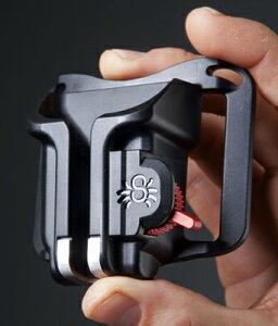 SPIDER ブラック・ウィドウ・ホルスター(SPIDER BLACK WIDOW HOLSTER)『〜納期1週間程度』[自分のベルトにカメラを装着できる手のひらサイズの小型ホルスター。コンパクトデジタルカメラ・中型ミラーレスカメラにおすすめ。]【RCP】[fs04gm][P25Apr15]