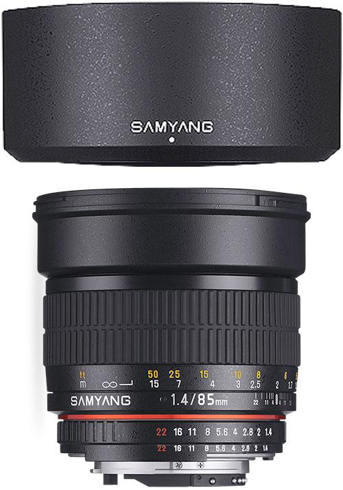 [3年保険付]【送料無料】SAMYANG 85mm F1.4『1〜3営業日後の発送/マウントによって一時品薄次回納期1ヶ月ほど』ボケ味を活かせるポートレートレンズ[02P05Nov16]