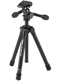 [耐加重2.5kg]也能支持中級單反照相機Velbon ULTRA555輕量快速伸縮三脚