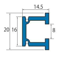 ピクチャーレールセット.C型ピクチャーレールセット1m(シルバー)