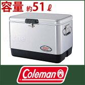 (Coleman)クーラーボックス コールマン 54QTステンレススチールベルト クーラー(シルバー) [ 3000001343 ] [ coleman コールマン クーラーボックス ホイールなし ][P10]