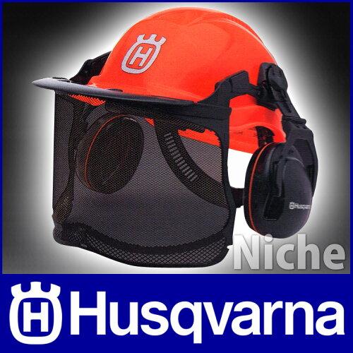 ハスクバーナ フォレストヘルメット ファンクショナル ヘルメット一式 (蛍光色) [ H5764124-01 ] ...