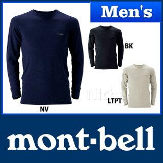 モンベルスーパーメリノウールM.W.ラウンドネックシャツMen's#1107235