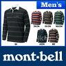 ◆4/27までクーポン◆モンベル WIC.ラガーシャツ ロングスリーブ Men's #1104782 [ モンベル montbell mont-bell | モンベル ウイックロン メンズ ]