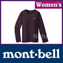楽天モンベル ペアスキンコットン ロングスリーブT Women's (ポテントパープル) #2104497(POPU)