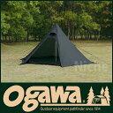 [レビューでQUO500] オガワ モノポールテント ピルツ 7 (ブラック) ogawa 【アウトドア テント...