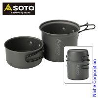 SOTO アルミクッカーセットM SOD-510 アウトドア クッカー キャンプ