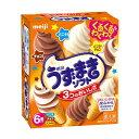 アイスクリーム 明治うずまきソフト バニラ・チョコ・バニラ&チョコ 70mlX3種X各2個×8箱