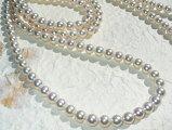 厚巻き良質真珠ロングネックレス(120センチ)