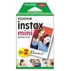 [フジフィルム]チェキフィルムinstax mini 2本パック(20枚x2個)40枚 instax mini 2PKX2