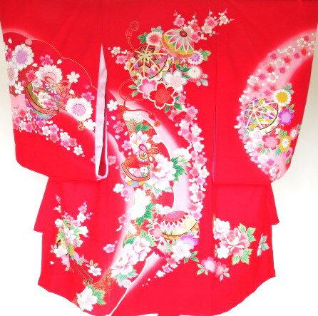 【レンタル】お宮参り衣裳レンタル A OWH-19-1 女の子産着レンタル・往復送料無料(沖縄県・離島を除く)A 商品は1枚のみですので予約状況確認後予約必要です
