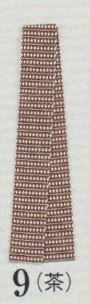 半天帯 袢天帯 半天紐 袢天紐 祭り用袢天帯(茶)巾6cm長さ165cm綿100% そろばん柄