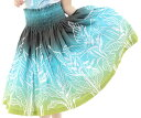 ☆ソフトポリコットン仕様☆【ギャザーの細かさが自慢】フラダンスのパウスカートハワイアンキルトのMiu-Mint製作