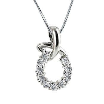 [送料無料] 10粒のダイヤモンドに想いを込めてプラチナ  0.2カラット アニバーサリー テン ダイヤモンドネックレス 贈り物に最適 [ミワホウセキ] miwahouseki:miwahouseki
