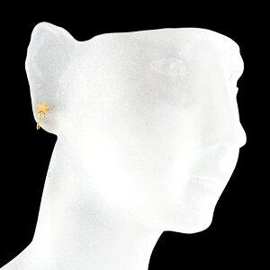 【ピアスみたいなイヤリング】ノンホールメタルスターイヤリング【安心安全の国産・日本製】