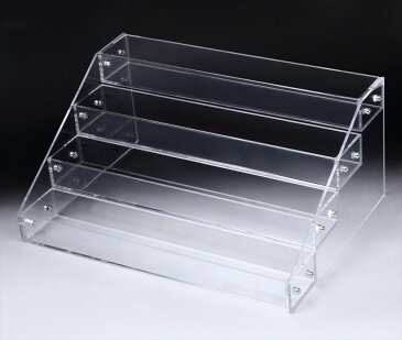 アクリル ケース 4段 透明 ディスプレイ 展示 スタンド 雛壇 コレクション 小物 フィギュア 化粧品