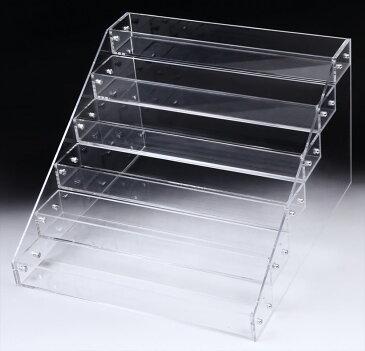 アクリル ケース 6段 透明 ディスプレイ 展示 スタンド 雛壇 コレクション 小物 フィギュア 化粧品