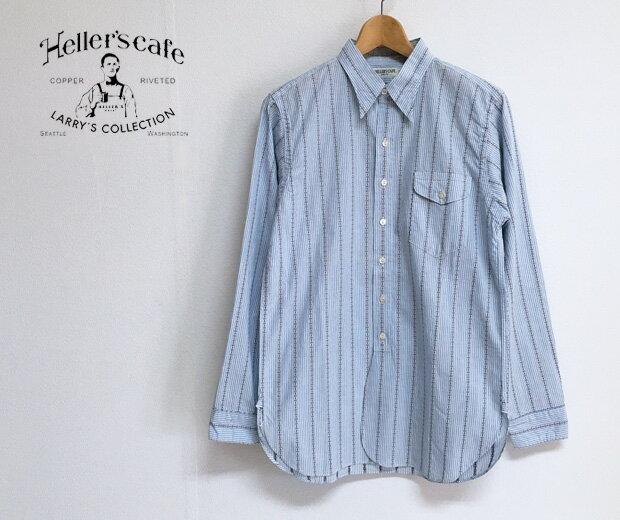 トップス, カジュアルシャツ HELLERS CAFE 1910s Yorke Brand Coat Style Stripe Shirts S