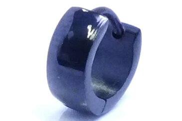 小さい シンプル ブラックシャドーフープピアス(4mmx10mm) 1個販売 黒色 人気 プレーン 18G 18ゲージ 耳 軟骨 リングピアス サージカルステンレス メンズ レディース ステンレスピアス ワンタッチリング シングルピアス 片耳用 低アレルギー 中折れ スモール