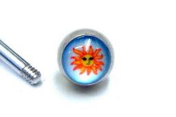 [14G用 ボディピアス用ネジパーツ] アポロンねじボール/14ゲージ 14G 太陽 キャッチ サージカルステンレス ネジ式 ネジタイプ スクリュー バーベル用 サーキュラー用 ラブレット用 へそピアス用 止め具 留め具 ネジ穴 DIY オリジナル 組み換え