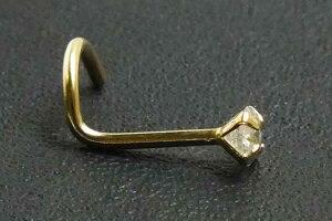 ダイアモンド(SI/3.0mm)K14YGノーズスクリュー