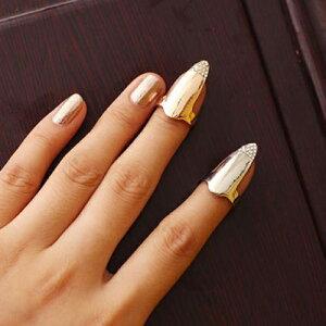 チップリング/ミディリング/爪の指輪/ネイルアート/ネイルリング/爪を保護/レディース/ファラン...