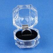 リングギフトボックス ブラック プレゼントコレクションボックス シューケース ボックス ショーケース スタンド ディスプレイ ラッピング