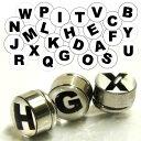 ステンレスマグネットピアス(アルファベット)AからMまで 磁石ピアス イヤリング 英語 サージカルステンレス316L メンズ レディース アルファベット 文字 A B C D E F G H I J K L M プレゼント ペアルック ギフト クリスマス 面白い おもしろ ノンホールピアス