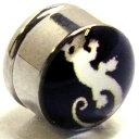 ステンレスマグネットピアス(リザード) トカゲ 蜥蜴 磁石 イヤリング サージカルステンレス316L メンズ レディース 人気 おしゃれ フェイクピアス ボディピアス風 プラグ型 大きい 彼氏 彼女 ペアルック ノンホールピアス 面白い おもしろ プレゼント 黒色 ブラック