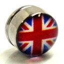 ステンレスマグネットピアス(イギリス) 国旗 磁石 イヤリング サージカルステンレス316L メンズ レディース 人気 おしゃれ フェイクピアス ボディピアス風 プラグ型 大きい 彼氏 彼女 ペアルック ノンホールピアス 面白い おもしろ プレゼント ギフト ユニオンジャック
