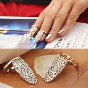 ビジュー/キラキラ/ミディリング/指先の指輪/チップリング/爪の指輪/ネイルアート/ネイルリング...