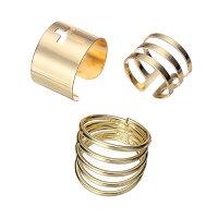 シャイニングファランジリング(3本セット)指輪ファランジリングチップリングメンズレディースフォークリングミディリングフィンガーリング15号フリーサイズ金色ゴールドクロス十字架指先の指輪関節の指輪結婚式2次会パーティおよばれお呼ばれ