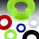 [ 8G アクリル リング型 ] プラスティック スムーズセグメントリング 8ゲージ 8ga ボディピアス メンズ レディース 軽くて扱いやすく工具の必要もなし シームレスリング バーリング ドーナツ型 耳 軟骨 鼻 乳首 ニップル フラットリング 金アレなし まん丸 プラスチック