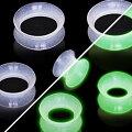 [光る]シリコンフレアグロウ6ゲージ6G4ゲージ4G2ゲージ2G0ゲージ0G00ゲージ00G12.0mm12mm14.0mm14mm16.0mm16mm18mm18.0mm20mm20.0mm22mm22.0mm25mm25.0mmボディピアスメンズレディース蓄光柔らかいゴム夜光ソフトクリアプラググロー