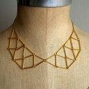 襟ネックレスチェーン/1個販売 おもしろ ネックレス レディース 首飾り チョーカー エリ 服のような首飾り ゴールド 金色 ゴシック ロリータ