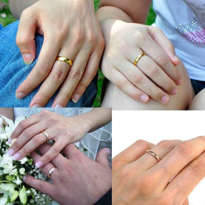 ゴールドステンレスリング:4.0mm(PRB065)サイズ/09号/10号/11号/12号/13号/14号/15号/16号/17号/18号/20号/23号/26号/28号/31号 金メッキ 指輪 サージカルステンレス316L メンズ レディース ペアリング プレゼント 結婚 婚約 記念日 誕生日 ピンキーリング 4mm