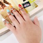 レディガールネイルリング チップリング 指先の指輪 爪の指輪 小さいイサイズ ピンキーリング レディース ビジュー クリスタル ラインストーン ジルコニア シルバー ゴールド 銀メッキ 金メッキ ネール 結婚式 パーティ 発表会 お呼ばれ エナメル 涙型 しずく型