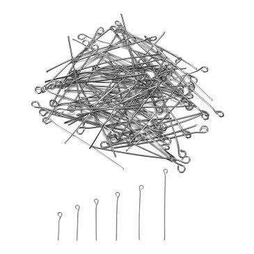 DIY用ステンレスヘッドピン(丸冠20mm) サージカルステンレス316L ピアス パーツ 天然石 ジュエル ストーン イヤリング 揺れる フックピアス フープピアス リングピアス アメリカンピアス 丸環 マルカン トップ ベール ベイルパーツ 9ピン