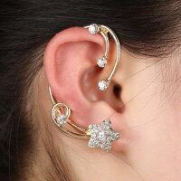 シューティングスターイヤーフックピアス1個販売右耳用左耳用20G20ゲージシルバーゴールド星ラインストーンパベキラキラクリスタルメンズレディースイヤーカフイヤーフック入学式結婚式パーティ2次会耳にかけるイヤークリップピアス大きい