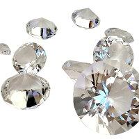 100mmクリスタルダイヤモンドカットガラスディスプレイ(クリア/透明)1個販売ディスプレイショーケースイミテーション飾りショップ雑貨インテリア偽物ガラス製ダイアモンドレプリカ大きい面白い展示用宝石裸石風ルース風プレゼント撮影用10cm