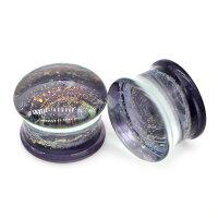 [2G0G00G12mm綺麗ボディピアス]渦巻きラメガラスプラグ1個販売グリーンピンクパープルイエロー2ゲージ0ゲージ00ゲージ12.0mm12ミリ1/2インチボディーピアス金属アレルギー対応メンズレディースダブルフレア型人気男女ペアルック