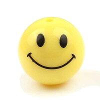 [8mm10mm12mm]スマイルくんボールアクリルビーズニコちゃんスマイルくん黄色イエロー笑顔パーツ革紐テグスブレスレットネックレスアンクレットチョーカー首飾りDIYハンドメイド手作り部品プレゼントスマイルクンメンズレディース人気穴あき