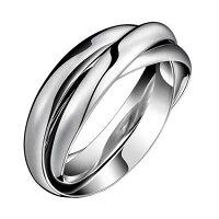3連ステンレスリング(RRT005)サイズ/15号3本のシンプルな指輪サージカルステンレス316Lメンズレディースペアリングプレゼントギフト結婚婚約記念日誕生日ピンキーリングファランジリングプレーン重ね付け中指親指薬指小指