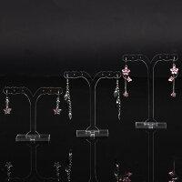 クラウドピアススタンド(クリア):3個セット無色透明ピアスたてピアスディスプレイ店舗用にも什器フリマアクセサリーネックレスチョーカーブレスレット指輪リングイヤリングジュエリー撮影用プロアクリルプラスティック樹脂プラスチック