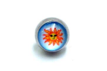 アポロンクリップインボール/8mm ボディピアス パーツ キャッチ サージカルステンレス 20G 18G 16G 14G 12G 10G 8G 6G 4G 2G 0G 00G 太陽 キャプティブビーズビーズリング用の交換用の球 リング型ボディピアス くぼみのある玉