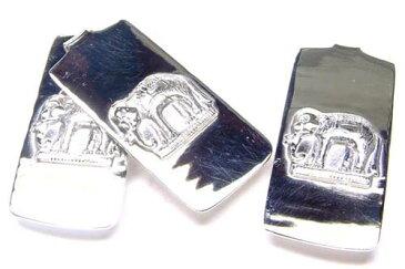 [シルバー925]エレファント マネークリップ 象 ゾウ エスニック アニマル 動物 シルバーアクセサリー スターリングシルバー オリジナル メンズ レディース 大人 お金を挟む お札 財布 おしゃれ スーツに似合う 銀製品 はさむ