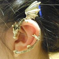 ドラゴン/龍/ヒュドライヤーラップ/ワイバーンイヤーラップ/(左耳用)