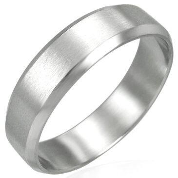 マットステンレスリング(RCH025)サイズ/23号 シンプルつや消し マッド 艶なし 光らない 指輪 サージカルステンレス316L 低アレルギー メンズ レディース ペアリング プレゼント ギフト 結婚 婚約 記念日 誕生日 ピンキーリング ファランジリング