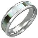 シェルスクロールステンレスリング(RMO006)サイズ/13号/16号/18号/26号 貝殻 指輪 サージカルステンレス316L 低アレルギー メンズ レディース ペアリング プレゼント ギフト 結婚 婚約 記念日 誕生日 ピンキーリング ファランジリング 大きいサイズ 綺麗